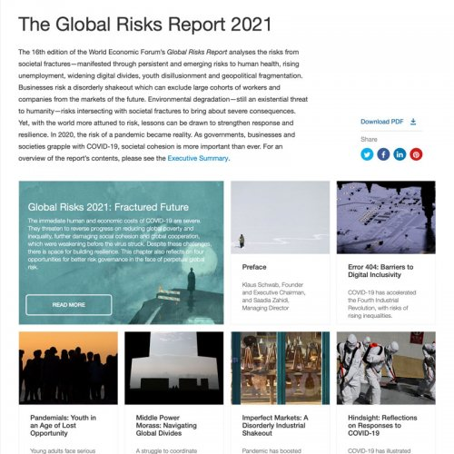 Image of article 'Global Risks 2021: Fractured Future'